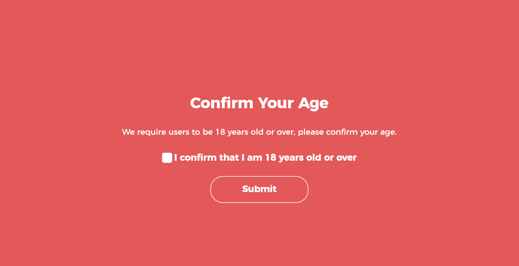 Confirm age in WordPress