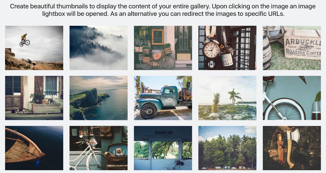 Photo Gallery by WD example