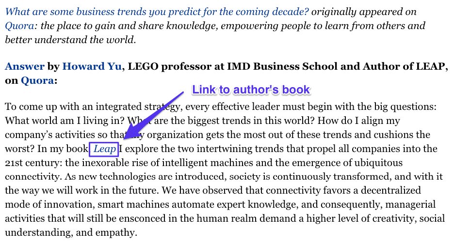 Quora link to book
