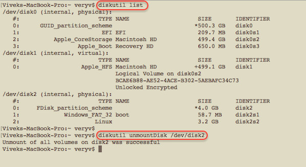 How To Create Disk Image on Mac OS X With dd Command - Insert in your SD card, or USB pen/HDD, and see /dev/diskN name