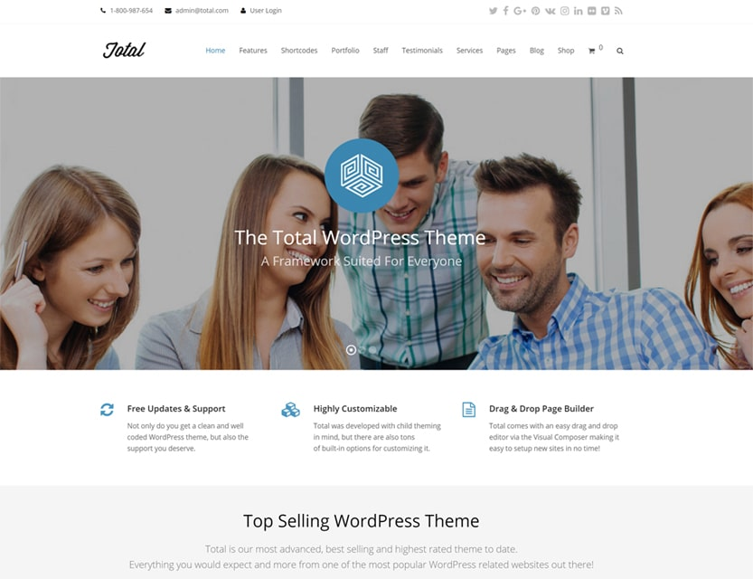 total wordpress theme demo