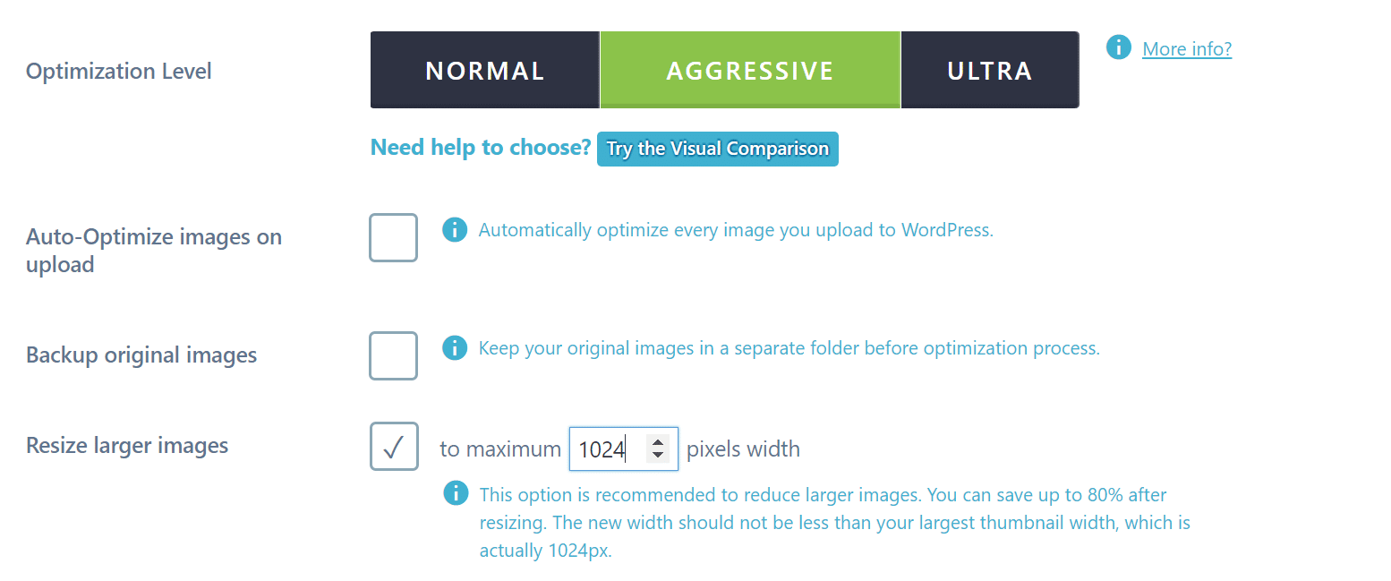 Resize images in Imagify