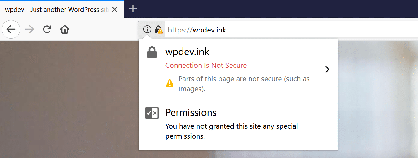 Firefox mixed content warning