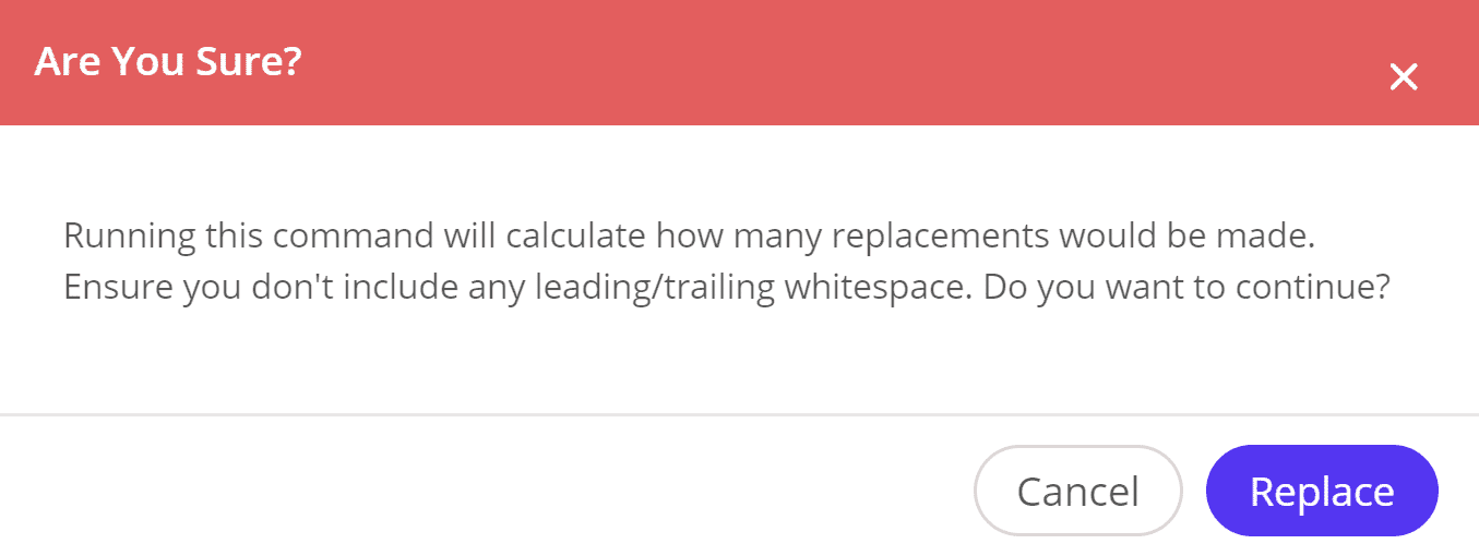 Search and replace calculate replacements