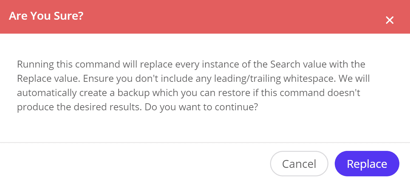 Live search and replace