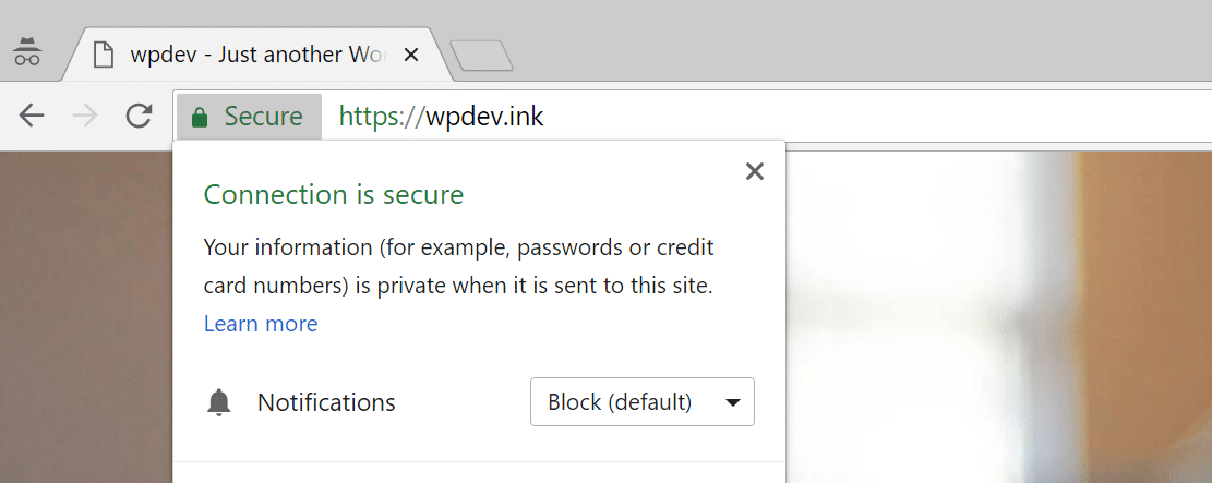 Chrome no mixed content warnings
