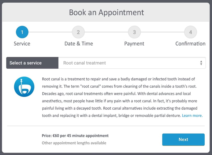 Book an appointment in WordPress (Img src: EDD bookings)