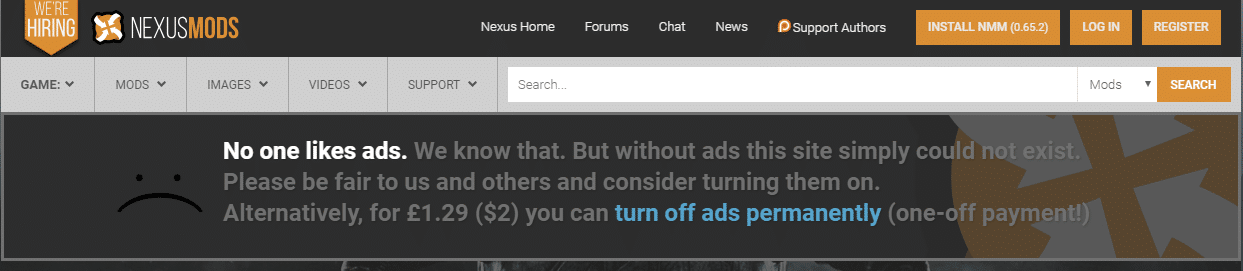 Ask to turn off ads