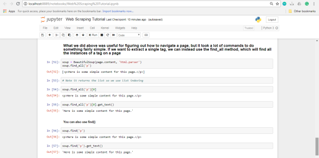 Web Scraping with Python and BeautifulSoup -